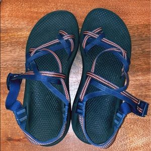 Navy and Pink Chacos
